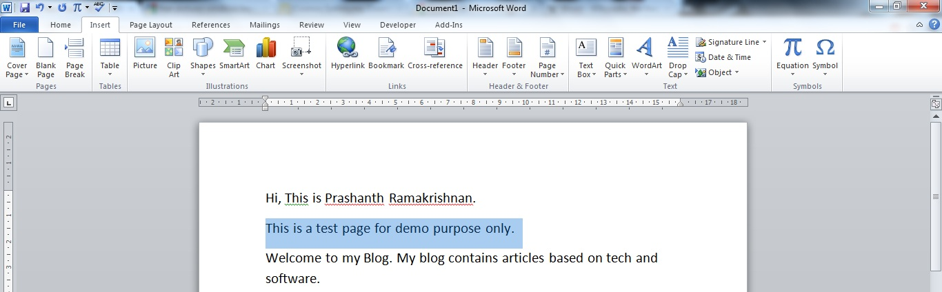 Moveswap Text In A Pagetable In Ms Word Prashanth Techwizworx