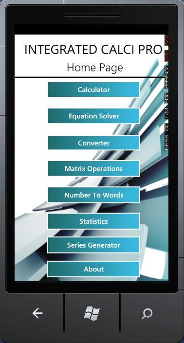 Integrated Calci Pro – Windows Phone 7 Application « PRASHANTH ...